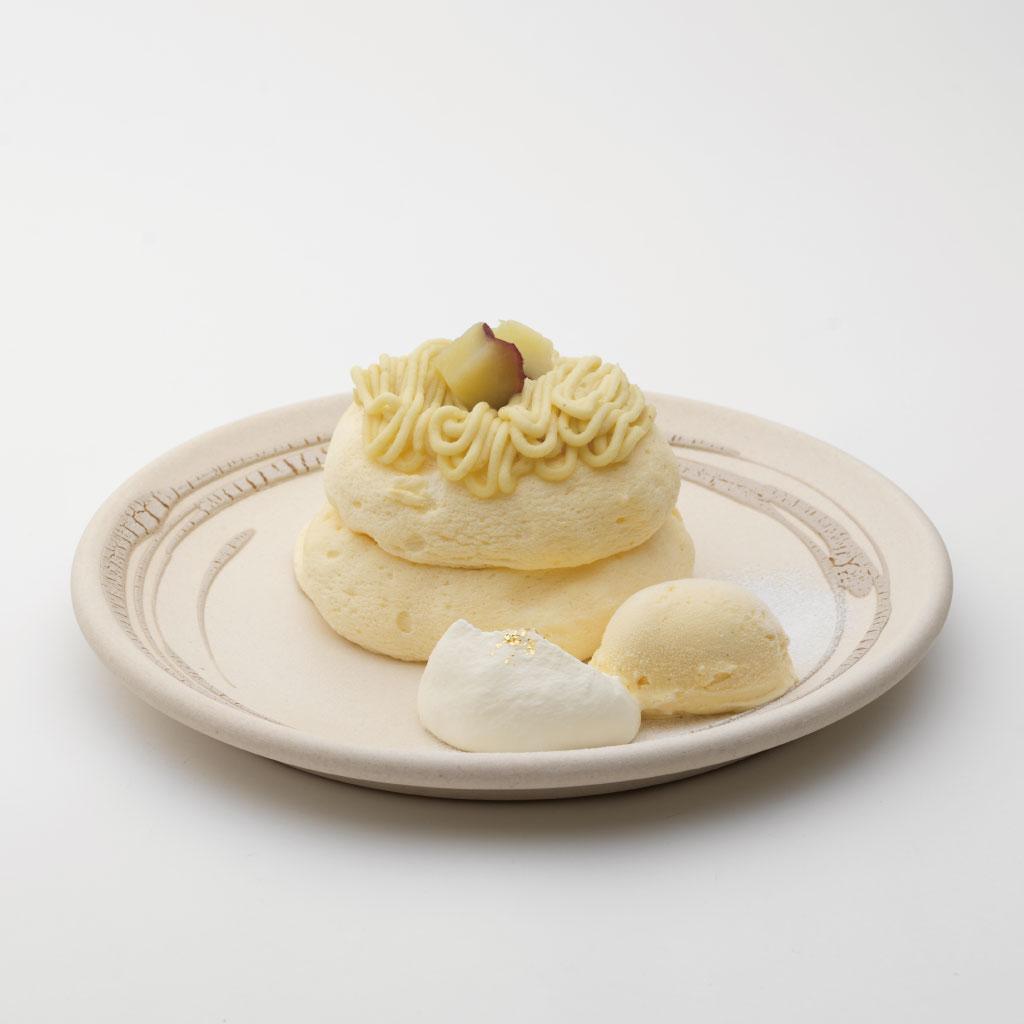 加賀野菜 五郎島金時の米粉モンブランパンケーキ<br><span>Kaga Vegetables and Gorojima Kintoki Rice Flour Mont Blanc Pancakes</span><br>¥1300