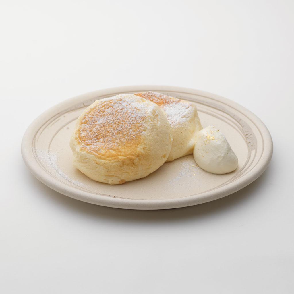 石川県産コシヒカリ米粉を使った「たもん」のパンケーキ<br><span>Tamon pancakes made with Ishikawa-grown Koshihikari rice flour</span><br>¥940